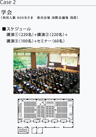 Academic meeting (Capacity for 600 guests at International Conference Hall ASAMA)