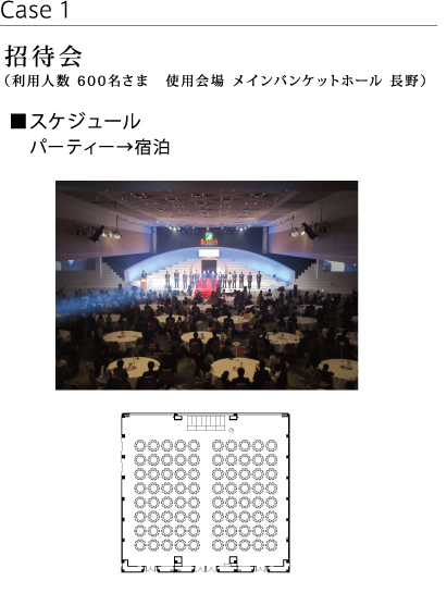 Meeting invitation (Capacity for 600 guests at Main Banquet Hall NAGANO)