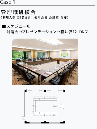 Manager's workshop (Capacity for 25 guests at Meeting Room SHIRAKABA)