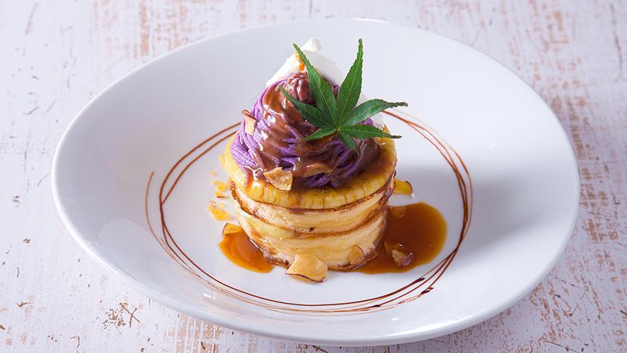がんばろう九州応援フェア  九州産紫芋のパンケーキ
