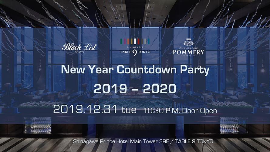 TABLE 9 TOKYO presents New Year Countdown Party  2019 - 2020